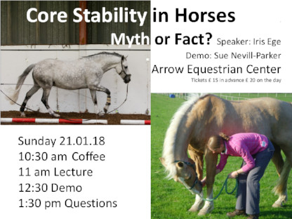 "Poster Talk 21/01/18: ""Core Stability in Horses - Myth or Fact?"""